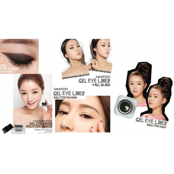 3CE - Gel Eye Liner ( 5 colors )