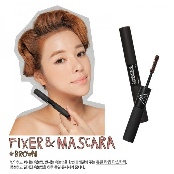 3CE - Fixer and Mascara ( 2 colors )