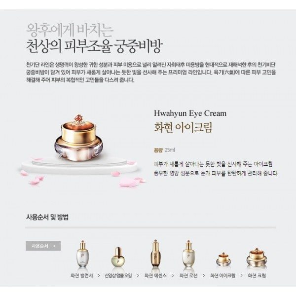 History of Whoo - Hwahyun Eye Cream