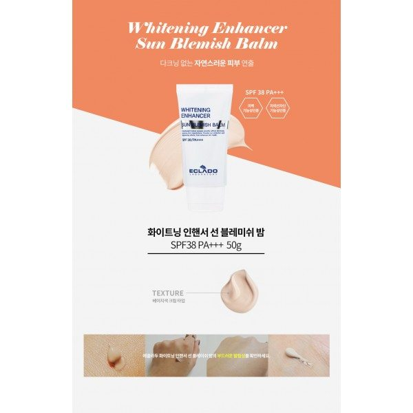 Eclado Whitening Enhancer Sun Blemish Balm BB Cream SPF38