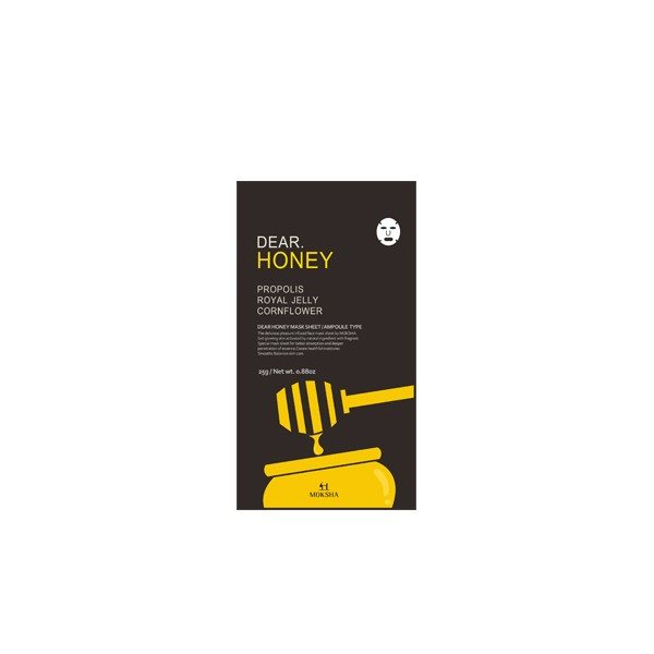 Moksha Dear Honey Mask Sheet Ampoule Type 5p