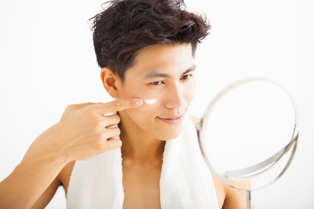 man into skincare