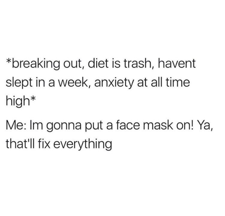 self-care with sheet masks