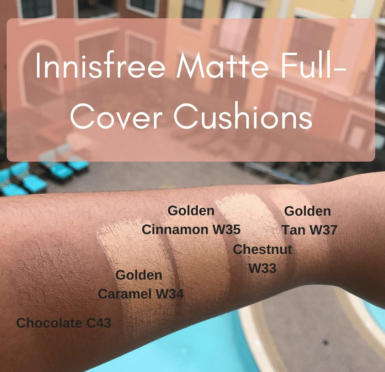 darkest cushion shades by Innisfree