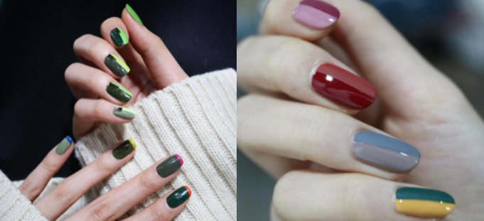 color block nail trends