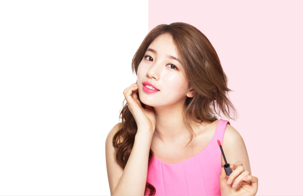 K-pop star and actress Suzy for The Face Shop.
