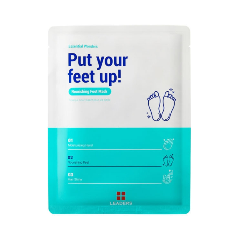 LEADERS Essential Wonders Put Your Feet Up Nourishing Foot Mask