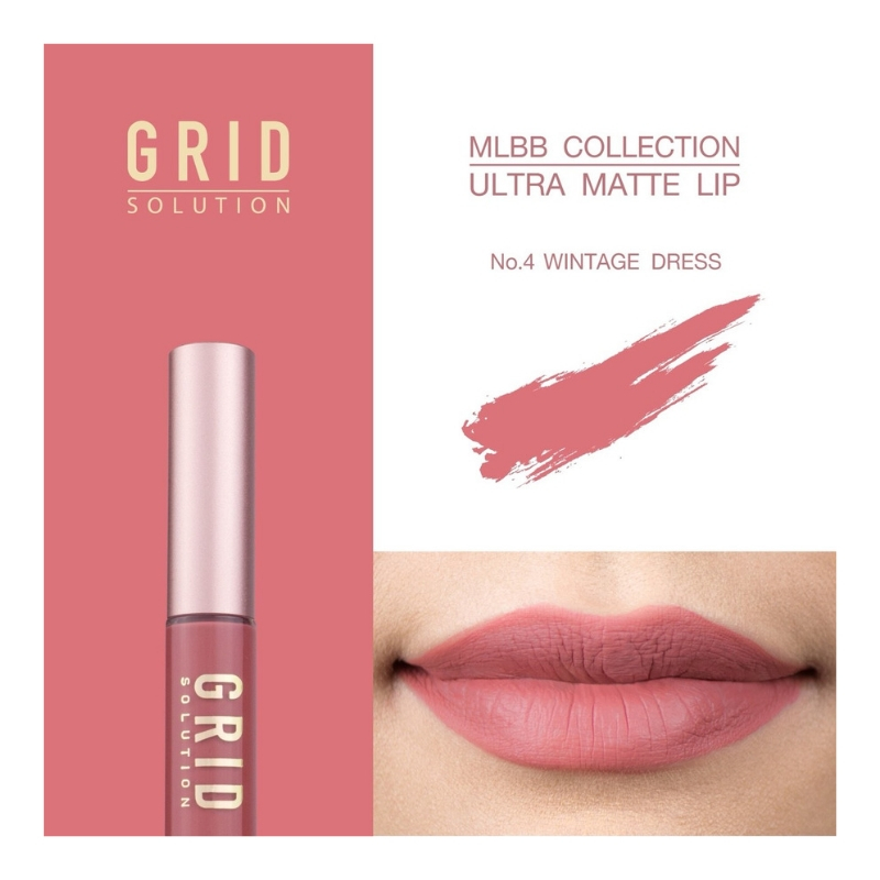 GRID MLBB Ultra Matte Lip Vintage Dress