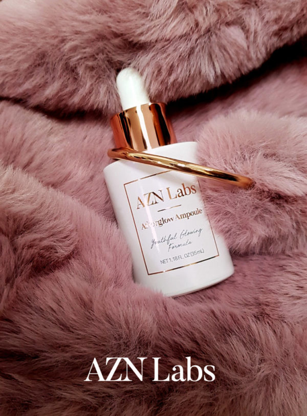 AZN Labs serum picture in fur background