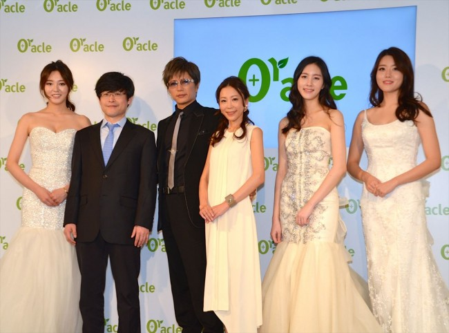 Dr. Oracle CEO and famous Asia actors and actresses take picture