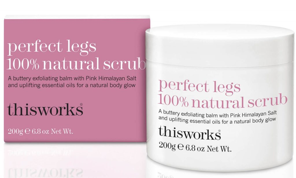 This works Perfect Legs Natural Scrub