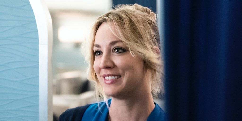 Kaley Cuoco as 'Cassie Bowden' in The Flight Attendant
